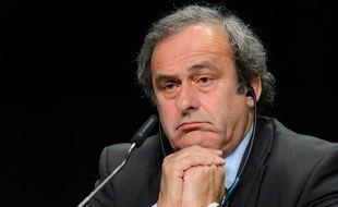 Michel Platini à Zurich, le 28 mai 2015.
