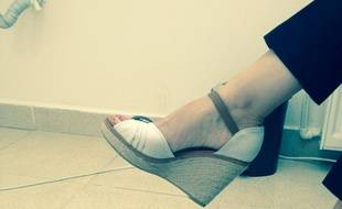 Une photo de chaussures postée par une femme turque sur Twitter, le 13 août 2014.