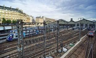 Les voies ferrées de la gare Saint-Lazare, en octobre 2013