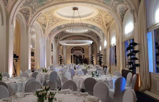 Salle de reception pour la finale de Top Chef, Hôtel Royal à Evian