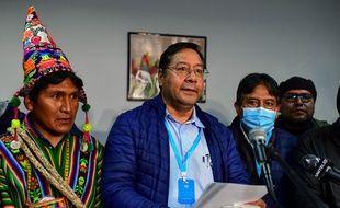 Luis Arce, le 19 octobre 2020, candidat de la gauche en Bolivie, a remporté l'élection présidentielle au premier tour.