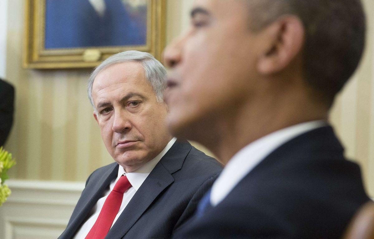Obama et Netanyahou  lors d'une rencontre à Washington en 2014. – SIPANY/SIPA