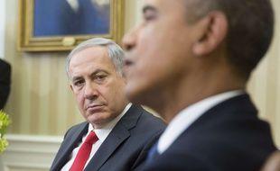 Obama et Netanyahou  lors d'une rencontre à Washington en 2014.