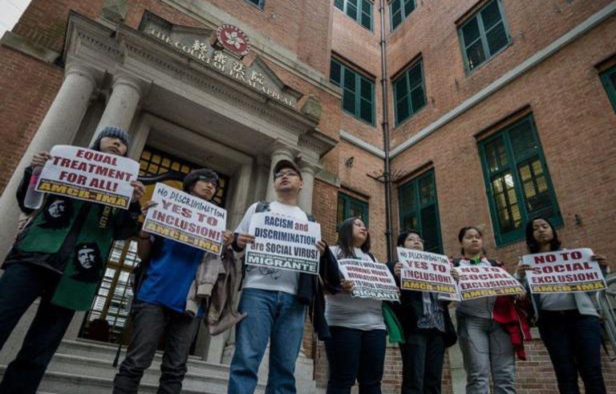 Les domestiques philippines et indonésiennes à Hong Kong jouent leur va-tout à partir de ce mardi devant la justice de la mépagole financière qui leur refuse un permis de séjour permanent auquel peuvent prétendre les autres travailleurs étrangers. – Philippe Lopez AFP