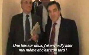 François Fillon se laisser aller à quelques confidences dans les couloirs d'Europe 1