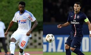 Le Marseillais N'Koulou et le Parisien Thiago Silva.