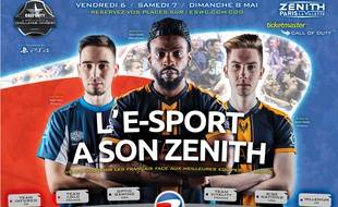 Kévin «BroKeN» Georges au centre de l'affiche de l'ESWC Call of Duty 2016 au Zénith de Paris