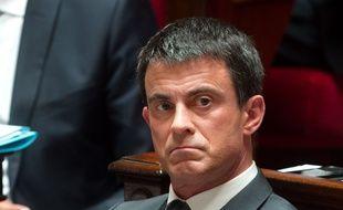 Manuel Valls à l'Assemblée nationale le 2 juin 2015. Crédit:CHAMUSSY/SIPA