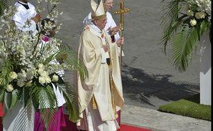 Le Pape François célèbre la messe de Pâques dimanche 20 avril 2014.