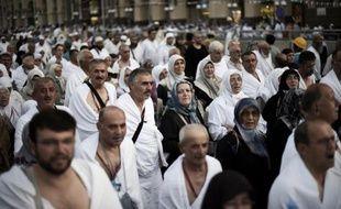 Des pèlerins arrivent pour la prière de l'après-midi à la Grande mosquée de La Mecque, le 29 septembre 2014 en Arabie saoudite