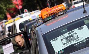 Manifestation des taxis dans le Nord (illustration).