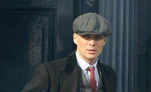 L'acteur Cillian Murphy dans la peau de Tommy Shelby sur le tournage de Peaky Blinders