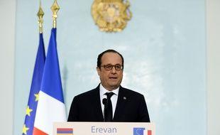 François Hollande, le 24 avril 2015 en Arménie