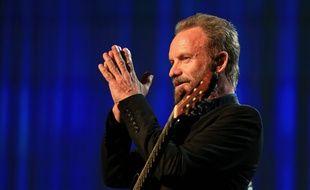 Sting en concert à Los Angeles, le 18 novembre 2015.