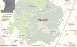 La commune de Peujard, en Gironde, où réside Sergiu Dimitras.