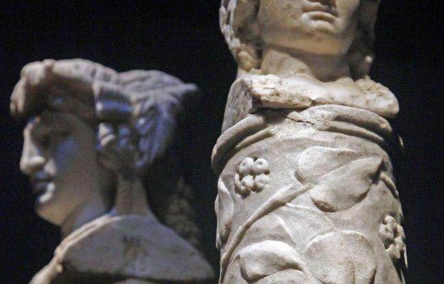 648x415  49x12 statue marbre represente dieu hermes celle ci retrouvee italie pompei