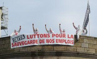 En octobre 2014, des salariés de la Seita mobilisés à Nantes pour la sauvegarde de leurs emplois. Illustration.
