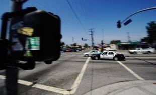 Une voiture de police américaine