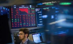 Illustration de la Bourse à New York le 10 octobre 2018.