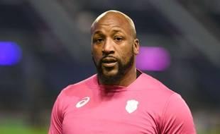 Bakary Meité, ici sous le maillot du Stade Français le 12 janvier 2018. Le rugbyman s'est engagé comme agent d'entretien dans un hôpital parisien durant l'épidémie de coronavirus.