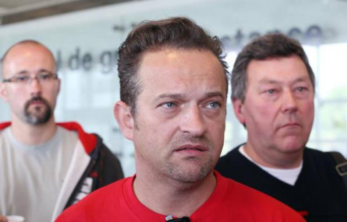 Le délégué CGT de l'usine Goodyear d'Amiens-Nord, Mickaël Wamen, le 3 juin 2013 à Nanterre – Thomas Samson AFP