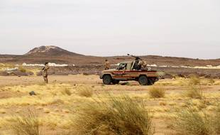 Une patrouille de soldats au Niger, illustration.