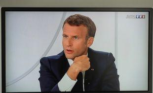 Emmanuel Macron lors de son interview le 14 juillet 2020