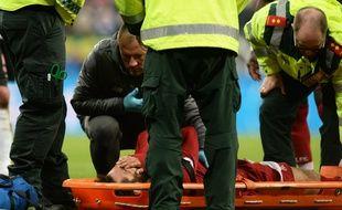 Salah est sorti sur civière face à Newcastle.