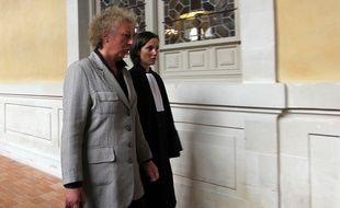 Laurence Nait Kaoudjt arrive aux assises d'Ille-et-Vilaine le 14 septembre 2015 en compagnie de son avocate Anna-Maria Sollacaro.