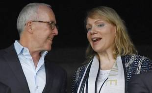 Margarita Louis-Dreyfus et Frank McCourt à Marseille le 18 septembre 2016