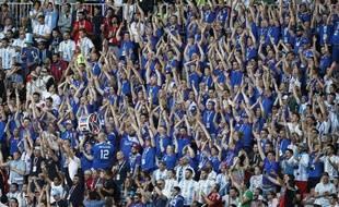 Le public islandais dans les tribunes contre l'Argentine, soit environ 2% de la population totale du pays.