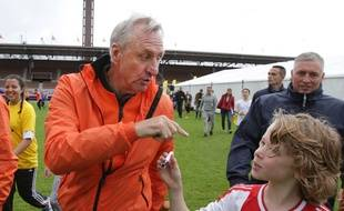 Johan Cruyff lors d'une journée au sein de sa fondation, le 23 septembre 2015.