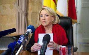 La maire d'Aix-en-Provence Maryse Joissains-Masini à Aix le 27 décembre 2013