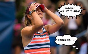 La joueuse française Clara Burel a remporté son premier match au bout de la nuit à Roland-Garros le 29 septembre 2020.