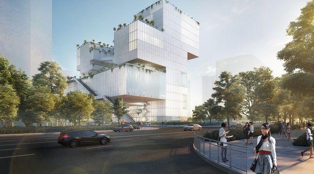 L'immeuble «Living Canvas» signé de l'agence lilloise CAAU pour Shenzhen – Coldefy & Associes Architectes Urbanistes
