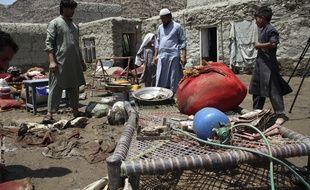 Un village après des inondations le 1er août 2020 en Afghanistan (illustration).