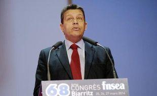 Le président de la FNSEA Xavier Beulin, le 26 mars 2014 à Biarritz