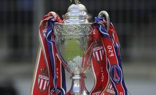 Le trophée de la Coupe de France lors de la finale remportée par le Paris Saint-Germain face à Monaco, le 1er mai 2010 au Stade de France.