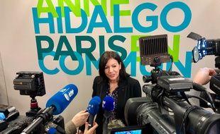 Anne Hidalgo, le 13 janvier 2020, dans son QG, lors de son lancement de campagne.