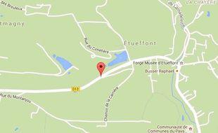 Etueffont dans le Territoire de Belfort (Franche-Comté).