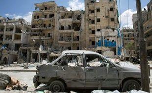 L'hôpital al-Qods à Alep en Syrie, frappé par un bombardement aérien le 28 avril 2016
