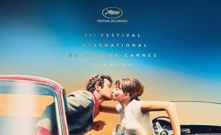 L'affiche du Festival de Cannes 2018 s'inspire du film Pierrot le fou
