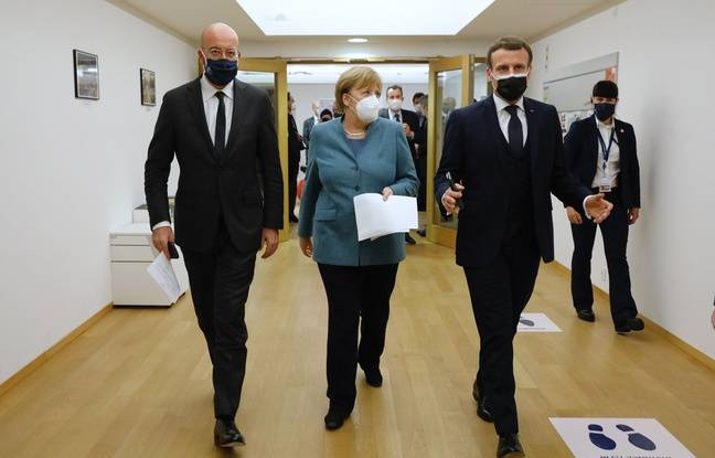 648x415 president conseil europeen charles michel chanceliere allemande angela merkel president francais emmanuel macron bruxelles 10 decembre 2020