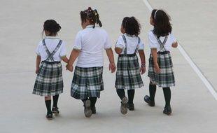 Des élèves dans une école en Espagne