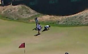Le golfeur australien Jason Day lors du 2e tour de l'US Open, le 19 juin 2015.