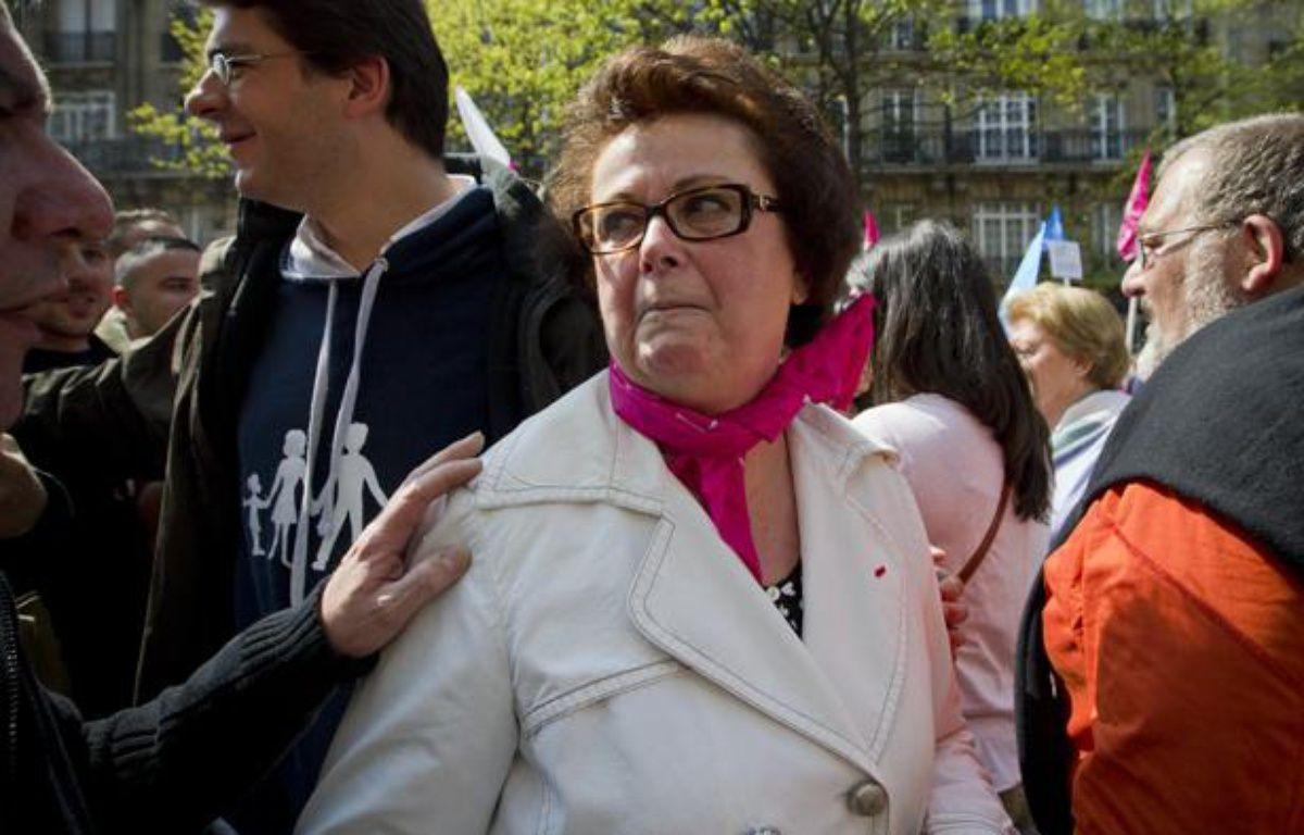 Christine Boutin lors de la «Manif pour tous» à Paris, le 21 avril 2013. – V. WARTNER / 20 MINUTES