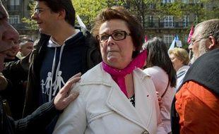 Christine Boutin lors de la «Manif pour tous» à Paris, le 21 avril 2013.