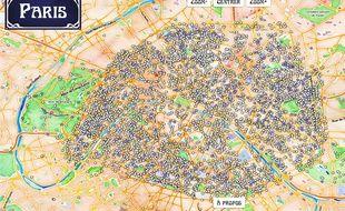 La carte interactive Paristique retrace l'origine des noms de rues à Paris.