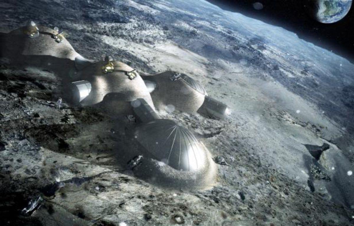 Un projet de base lunaire, présenté par l'Agence spatiale européenne le 31 janvier 2013. – ESA/FOSTER+PARTNERS