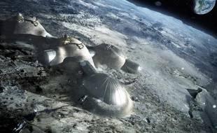 Un projet de base lunaire, présenté par l'Agence spatiale européenne le 31 janvier 2013.